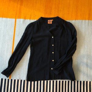tory burch silk shirt